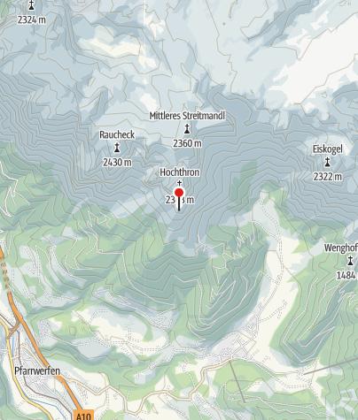 Karte / Werfener Hütte
