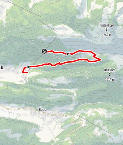 Karte / Bezau | Bezauer Höhen-Runde mit Seilbahn