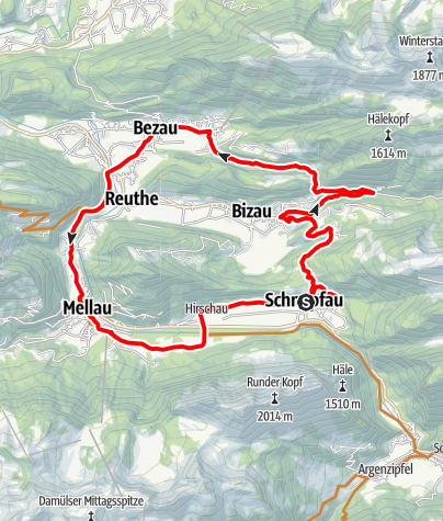 Karte / Schnepfau | Rund um den Gopf