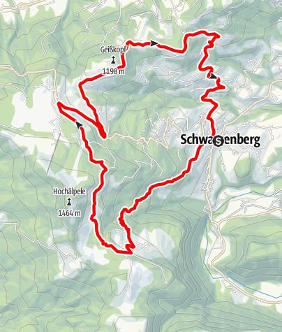 Karte / Schwarzenberg | Schwarzenberg-Runde