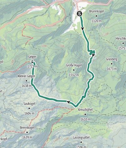 Karte / Gr. Geiger in Hinterwildalpen, Wildalpen
