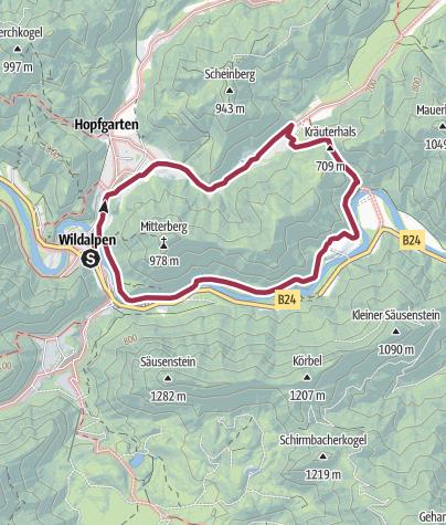 Karte / Kräuterhalsrunde Wildalpen
