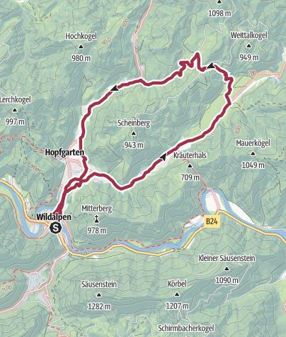 Karte / Krumpenrunde Wildalpen