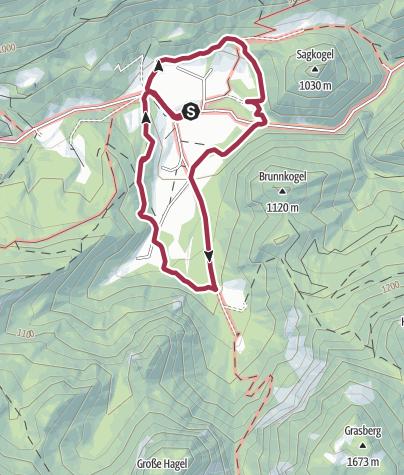 Karte / Panoramarunde Hinterwildalpen in Wildalpen