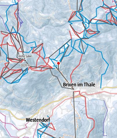 Karte / SkiWelt Wilder Kaiser-Brixental