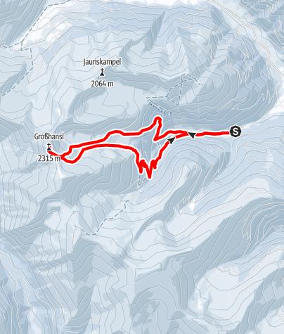 Karte / Großhansl (2315 m) aus dem Scharnitzgraben