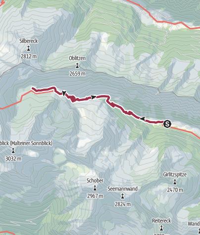 Karte / Wanderung zu den Lanischseen
