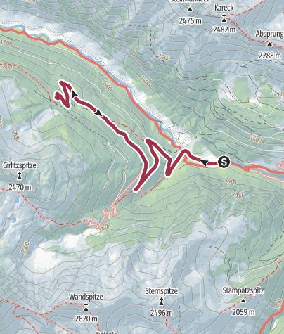 Karte / Wanderung zur Pfarrhütte