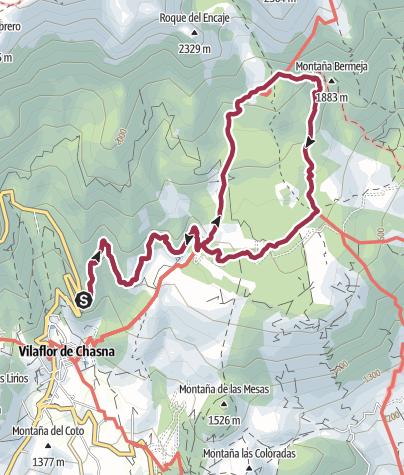 Karte / Wanderung zum Paisaje Lunar am Teide