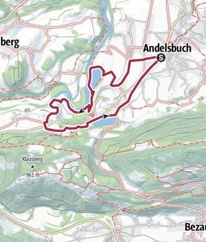 Karte / Andelsbuch | Wege zum Wasser - Kraftwerk Andelsbuch mit Stauseen