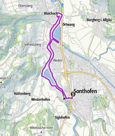 Karte / Entlang der Iller vorbei am Ortwanger See