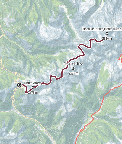 Karte / Lagorai Überquerung - Etappe 1