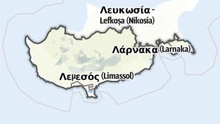 מפה / Republik Zypern