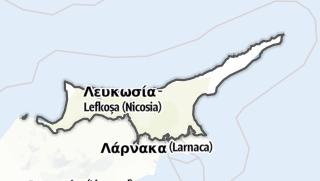 Karte / Türkische Republik Nordzypern