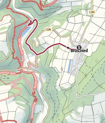 Karte / Soonwaldsteig - Zuweg Bruschied 1