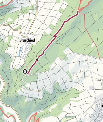 Karte / Soonwaldsteig - Zuweg Bruschied Wanderparkplatz