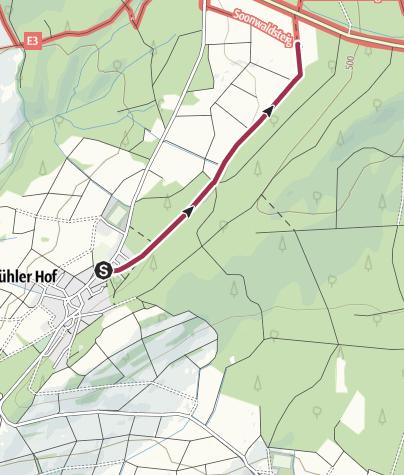 Karte / Soonwaldsteig - Zuweg Schwarzerden