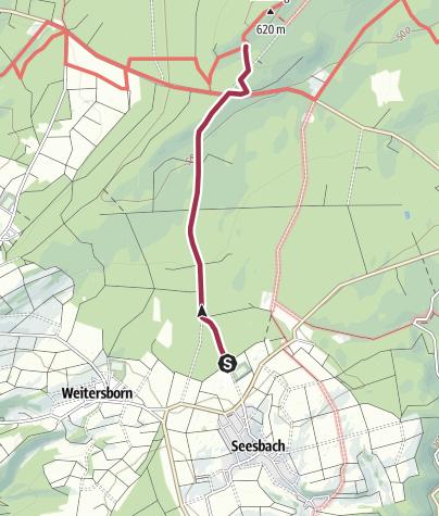 Karte / Soonwaldsteig - Zuweg Seesbach 1