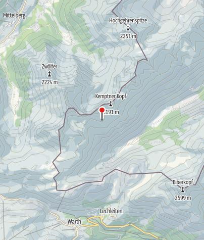 מפה / Mindelheimer Hütte