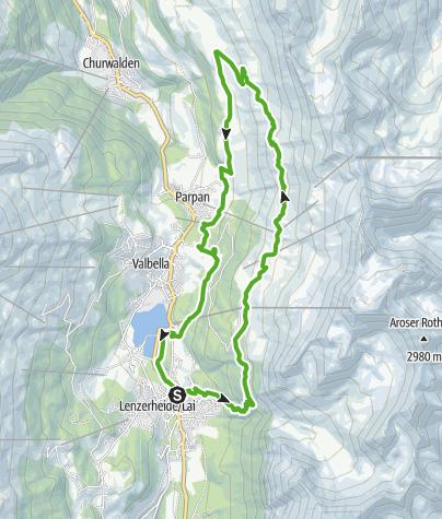 Karte / 751 Panoramaweg Scharmoin