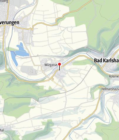 Karte / Karlsstein mit Bonifatiuskreuz von 797
