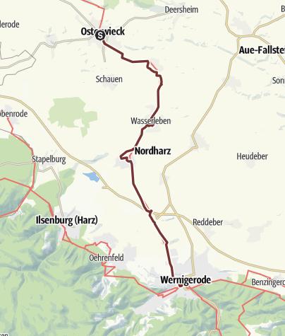 Karte / VIA ROMEA Osterwieck - Wernigerode (17)