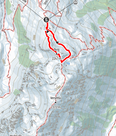 Karte / Klettersteig Burg