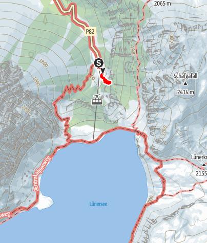 Karte / Klettern bei der Talstation Lünerseebahn im Brandnertal