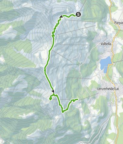 Map / GPS Höhenweg Tgantieni - Piz Scalottas - Heidbüel