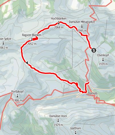 Karte / Damüls   Damülser Rundtour
