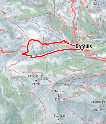 Map / Damüls | Oberdamülsalpe