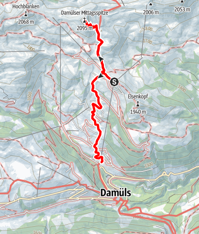 Karte / Damüls | Mittagspitze