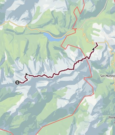 Karte / Lagorai Überquerung - Etappe 4