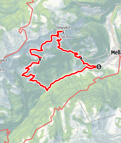 Karte / Mellau | Hangspitze