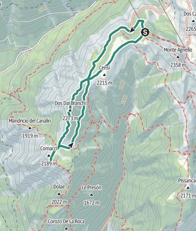 Cartina / Monte Cornon