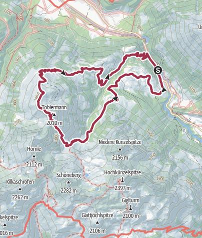 Karte / Schoppernau | Schalzbach - Toblermann