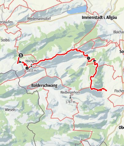 Map / Über Nagelfluhkette und Hörnergruppe