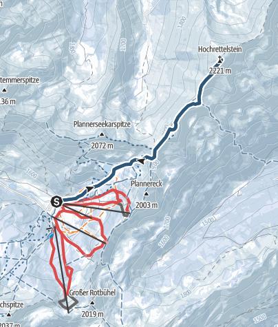 Karte / Hochrettelstein