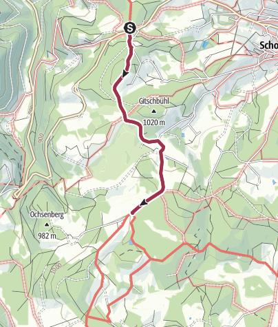 Map / Schonach - Barrierefreie Wanderung zur Wilhelmshöhe