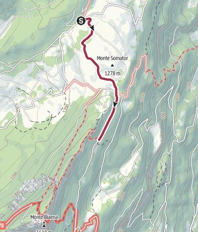 Cartina / Passeggiata a Malga Somator con i bambini