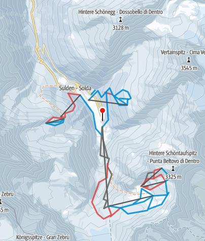 Cartina / Il ghiacciaio di Solda