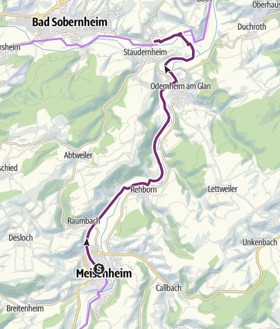 Karte / Glan-Blies-Radweg - Etappe 5 (Meisenheim - Staudernheim)