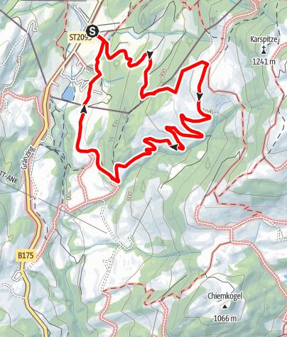 Karte / Von Sachrang zur Wildbichl Alm - Bergsteigerdörfer Schleching & Sachrang