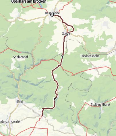 Karte / VIA ROMEA Hasselfelde - Neustadt/Harz (20)