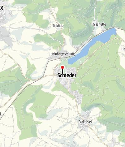 Karte / Schloss Schieder mit Barockgarten