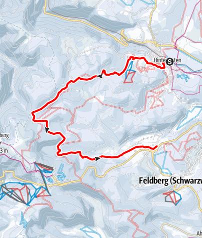 Map / Von Hinterzarten über den Rinken nach Bärental