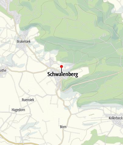 Kaart / Raadhuis Schwalenberg