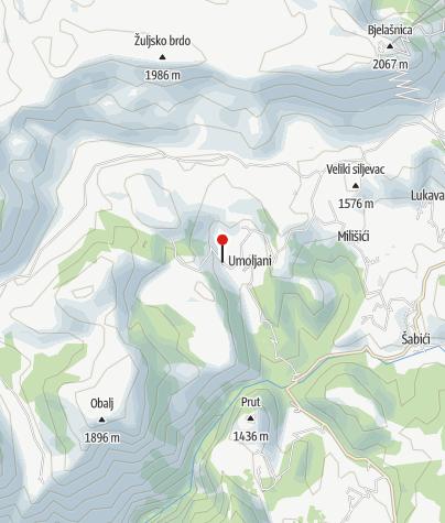Map / Mountain Hut Umoljani