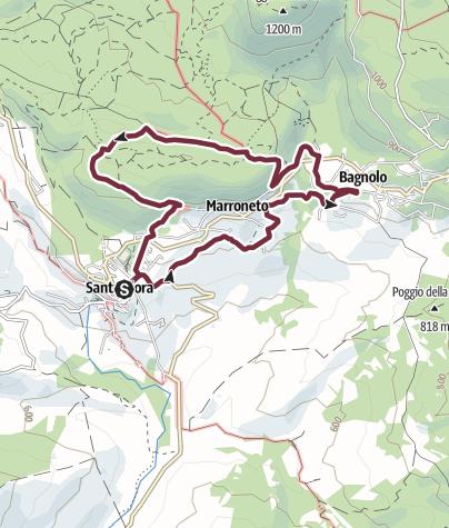 Map / N.05 SANTA FIORA ANELLO DEL BAGNOLO - AMIATA - TOSCANA