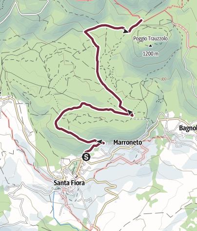 Map / SANTA FIORA 01A R.E.T COLLEGAMENTO ANELLO DEL MONTE AMIATA